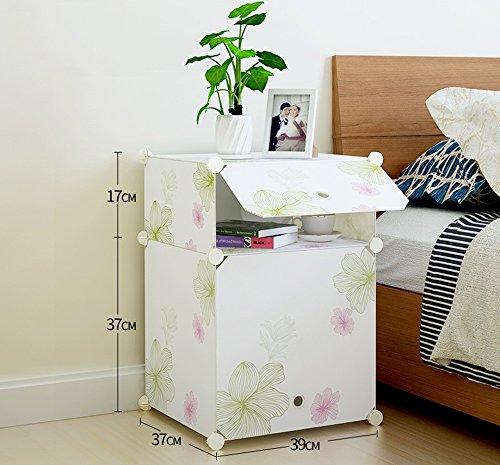 Flashing-DIY Style pastoral Creative simple armoire de rangement moderne, de la mode petit placard armoires avec portes, ABS résine plastique mini armoire de lit ( Couleur : #1 , taille : 39*37*54cm )