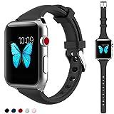 Für Apple Watch Armband 38mm Kppto, ultra-dünnes Silikon Apple Watch Armband Ersatz Sportarmband...