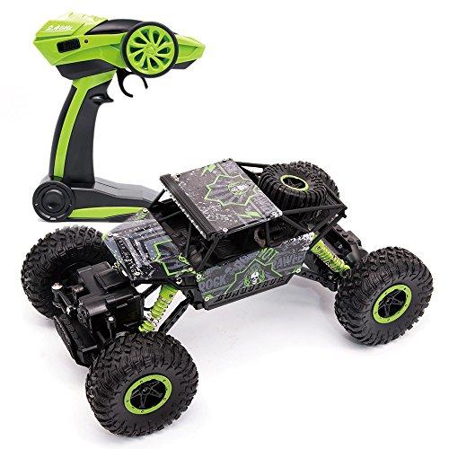 MMTX RC Cars Stunt Elektro Rock Crawler Fahrzeug Remote Radio Control Rennwagen 2,4 Ghz 100m Maßstab 1/18 4WD Wiederaufladbare High-Speed-Fahrzeuge Off-Road Schnelle Rennen Buggy Hobby Car Crawler. (100 Remote-control Car)