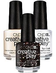 CND Creative Play Nocturne it Up Nr. 450 13,5 ml mit Creative Play Base Coat 13,5 ml und Top Coat 13,5 ml, 1er Pack (1 x 0.041 l)