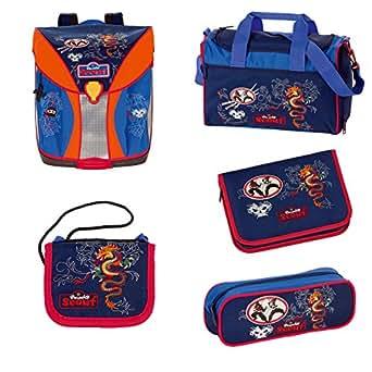 Scout Nano Ensemble cartable et accessoires d'école 5 pièces Motif ninja 685 ninja
