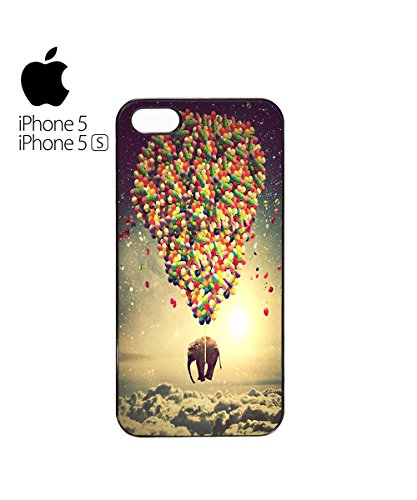 Balloon Elephant Sky Animal Mobile Phone Case Back Cover Hülle Weiß Schwarz for iPhone 4&4s Black Weiß