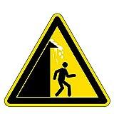 Warnzeichen - Vorsicht Dachlawinen - Aluminium - 20 x 20 cm
