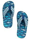 Hatley Jungen LBH Kids Flip Flops-Sharks Attack Dusch-& Badeschuhe, Blau, S