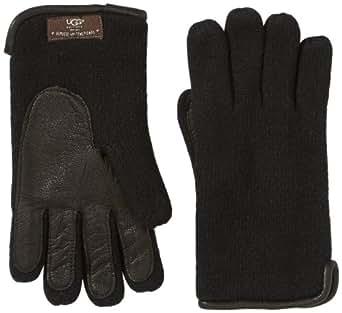UGG Herren Handschuhe M's Knit Side Vent Glove, Einfarbig, Gr. Medium (Herstellergröße: S/M), Schwarz