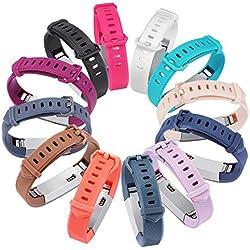 Correas de repuesto Gincoband para Fitbit Alta HR y Fitbit Alta, 12 unidades, color set of 12