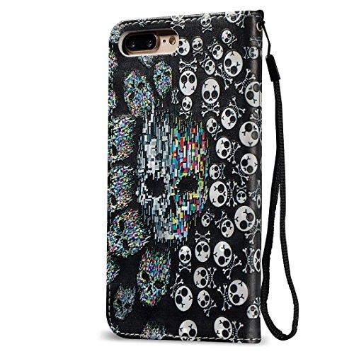 Hülle für iPhone 7 plus , Schutzhülle Für iPhone 7 Plus 3D Blume Plüsch Stoff Abdeckung PC Schutzhülle mit Diamant verkrustet Bowknot Kette Anhänger ,hülle für iPhone 7 plus , case for iphone 7 plus ( Ip7p0621a