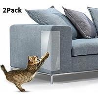 In hand Muebles Cat Scratch, 2 PCS Clear Premium Heavy Duty Protector de sofá de Mascota de Vinilo Flexible Protectores para Proteger Sus Muebles, Detiene el Protector de Muebles de Gatos de raspado