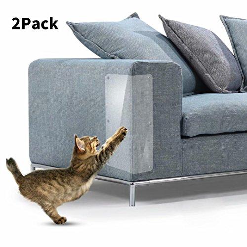 HAND Cat Scratch Furniture, Clear Premium Flessibile Protezione del Vinile Dog Cat Art Guards con perni per Proteggere Il Tuo Arredamento Imbottito, Set di 2
