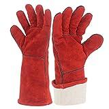 YAOBAO Feuerbeständige Handschuhe, Ideal Für Kamin, Ofen, Ofen, Grill, Schweißen, Grill, Mig, Topflappen, Tierhandschuh