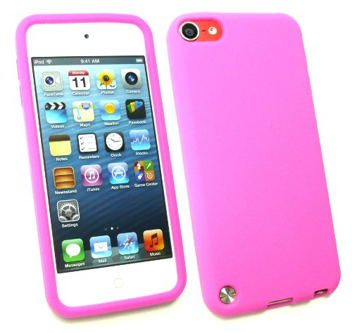Emartbuy ® Apple Ipod Touch 5 (5. Gen Oktober 2012 Release) Lcd Screen Protector Und Silicon Skin Cover / Case Hot Pink