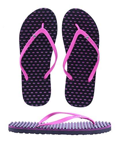 SOULS Australian Thongs Zehentrenner Ladies Comfort Massage Sohle 'Pink Cabaret' Sandale, Größe:40/41