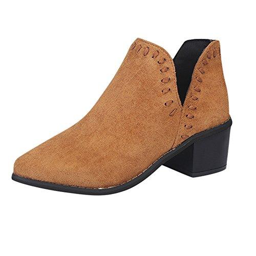 Stiefel Damen, LANSKIRT Ankle Solid Römer Kurze Stiefel Stiefeletten Halbschaft Stiefel Plateau Blockabsatz Knöchelhohe Stiefel Boot Sandalen Sneakers Schuhe -