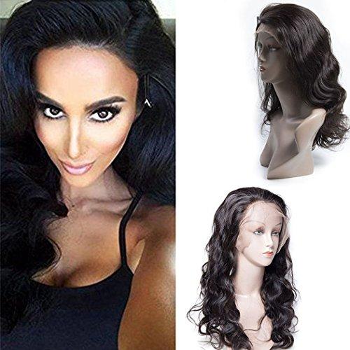 Maxine brésiliens vierges Cheveux Lace Front Perruques ondulés Cheveux humains Perruques 130% de densité pour femme noire avec des cheveux de bébé Couleur naturelle