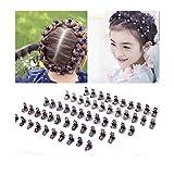 12 Stück Haar Zubehör Baby kleine Mädchen Haarspangen Bögen Barrettes Haarnadeln Set (Blau)