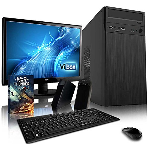 VIBOX Alpha Komplett-PC Paket 3 Gaming PC - 3,9GHz AMD A4 Dual-Core APU, Desktop Gamer Computer mit Spielgutschein, 19