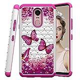 COTDINFOR LG Stylo 4 Case for Girl Cute Bling Diamond Cover