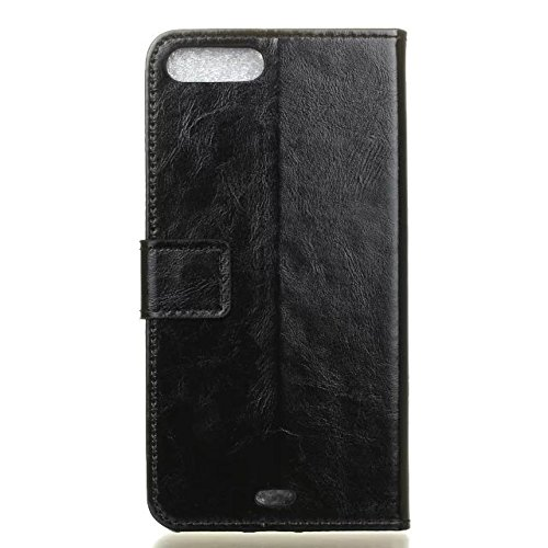Solid Color Crazy Horse Pattern Texture Cuir Housse de protection Housse Horizontal Flip Stand Wallet Case Avec Slots de carte pour IPhone 7 Plus ( Color : Black , Size : IPhone 7 Plus ) Black