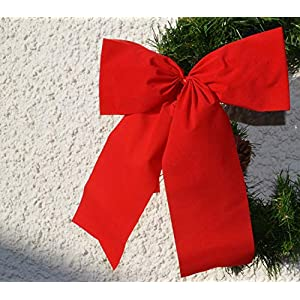 4x wetterfeste Dekoschleife für Motorrad, Moped, Fahrrad geschenk, rote Ganzjahresschleife, Jubiläum