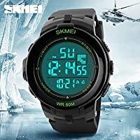 Schöne Uhren, Skmei® große LCD-Anzeige Alarm Stoppuhr Gummiband Sportuhr