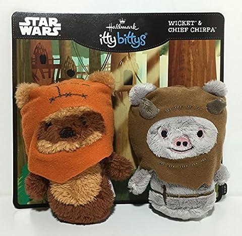 Hallmark itty bittys Ewok Buddies Set Stuffed Animals by Hallmark