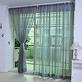 Hukz 1 Stück reine Farbe Tulle Tür Fenster Vorhang Drape Panel Sheer Schal Volants (H)