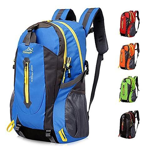 40L Leichte Wanderrucksack, Natuce Multifunktionale Wasserdicht Casual Camping Tagesrucksack für Outdoor-Sport Klettern Bergsteiger 52 X 33 X 16 cm - Blau