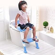 Diswa Baby Walking Non-slip Folding Seat Adjustable Chair Step Ladder Toilet Training (Multicolour, Toilet Ladder-3)