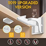 Norjews Child Safety Cupboard Locks (10 Pack), Easy Install in Seconds, Baby Safety Locks for Cabinets & Drawers, No Drilling Needed,with Back Up Strong Adhesives