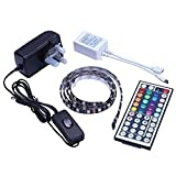 Tingkam Waterproof 1M 5050RGB Led Strips Lighting Full Kit With 44Key IR Remote For Home lighting and Kitchen