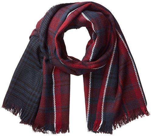 ONLY Damen Schal Onlofaith Doublesided Check Scarf Noos, Mehrfarbig (Port Royale Checks:Black / Rumba Red / Night Sky), One Size (Port Schal)