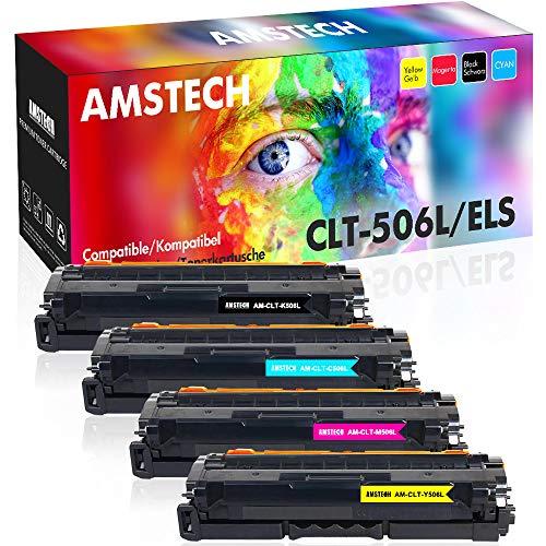 Amstech 4 Pack Kompatibel für K506L 506L für Samsung CLP-680 CLX 6260 6260ND 6260FW CLX-6260ND CLX-6260FW CLP680ND CLP-680ND CLP-680DW CLP680 CLX6260 Toner CLT-K506L CLT-C506L CLT-M506L CLT-Y506L - Samsung Serie 6000