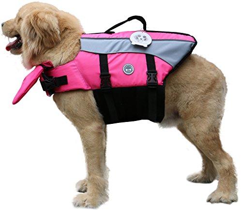Vivaglory Dog Life Jacket Adjustable Buckle Dog Safety Vest Pet Lifesaver Coat 6
