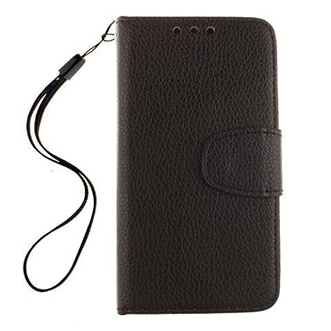 BONROY® PU Leder schwarz Schutzhülle für Samsung Galaxy S3 Mini