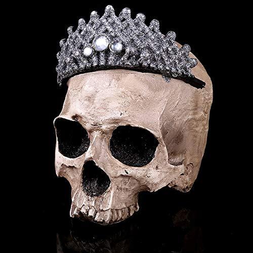 Crown Schädel Kopf 1: 1 Lebensgroße handgemachte Dekoration Sammlung Wohnkultur Hochwertige Kristall Schädel Schädel Modell - Batman Kostüm Sammlung