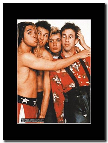 Red Hot Chili Peppers-Inizio '88Line Up Magazine Promo su un nero Mount