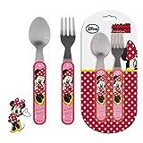 Minnie Mouse–2Set di posate pezzi in metallo (Suncity mid101513)