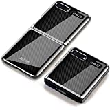 JAMIE Case Compatible with Galaxy Z Flip, Full Cover Ultra Thin Matte Anti Slip Scratch Resistant Folding Glass Mirror Trend