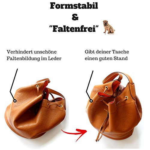 51FalN%2B5m8L - Classic Slash Handbag Organiser - Bag in Bag - Insert Pouch for Women Purse - Felt