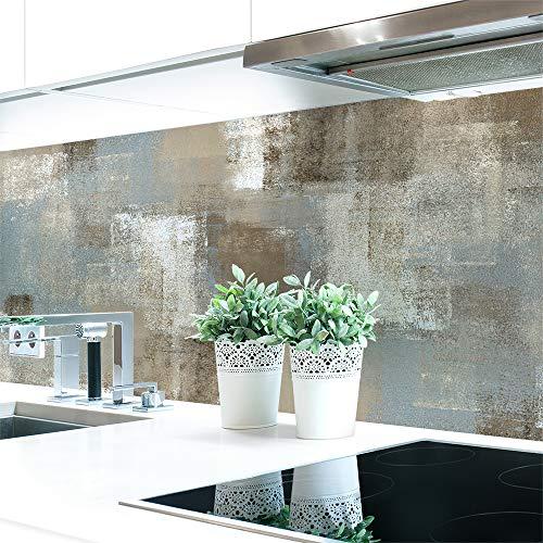 Küchenrückwand Ethno Abstrakt Premium Hart-PVC 0,4 mm selbstklebend - Direkt auf die Fliesen, Größe:Materialprobe A4