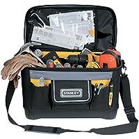 STANLEY 1-96-193 - Bolsa para herramientas con tapa plana, 44.7 x 26.2 x 25.1 cm, base reforzada