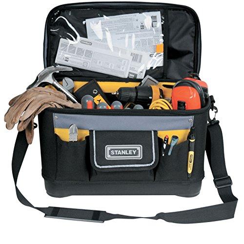 Stanley Werkzeugtasche (mit Dokumentenfach, 600 Denier Nylon, Kunststoffboden, verstellbarer Schultergurt) 1-96-193