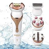 Epilierer Haarentferner für Damen Elektrorasierer, Wet und Dry, 9 Zubehörteile für eine mühelose Anwendung an Beinen, Körper & Gesicht für langanhaltend glatte Haut, Wasserfest Wiederaufladbar