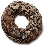 styleBREAKER Leoparden Print Loop Schlauchschal 01017009 (Braun)