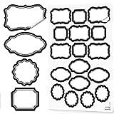 68 Stück schwarz weiße Etiketten Aufkleber neutrale beschreibbare blanko beschreibbar für Haushalt Küche Gläser Dosen Gewürzetiketten Küchenetiketten Küchenaufkleber Sticker Tafelkreide-Optik vintage