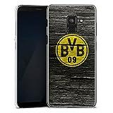 DeinDesign Samsung Galaxy A8 Duos 2018 Hülle Case Handyhülle Borussia Dortmund BVB Holzoptik