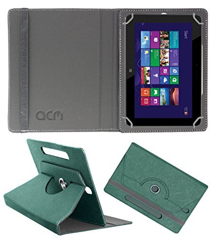 Acm Designer Rotating Leather Flip Case for Hp Omni 10 Cover Stand Turquoise  available at amazon for Rs.219