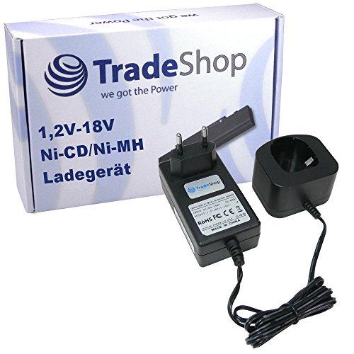Preisvergleich Produktbild Trade-Shop Universal Akku Ladegerät (1,2V-18V Ni-Cd/Ni-MH) Ladestation Schnellladegerät für Ryobi P700 P710 P730 P731 P740 P741 P780 P835 BID-1821M BIW180 BIW180M CCG-1801M LLCD14022 LLCD 14022