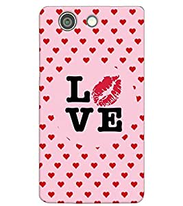 Fuson Love Heart Pattern Back Case Cover for SONY XPERIA Z4 MINI - D3954