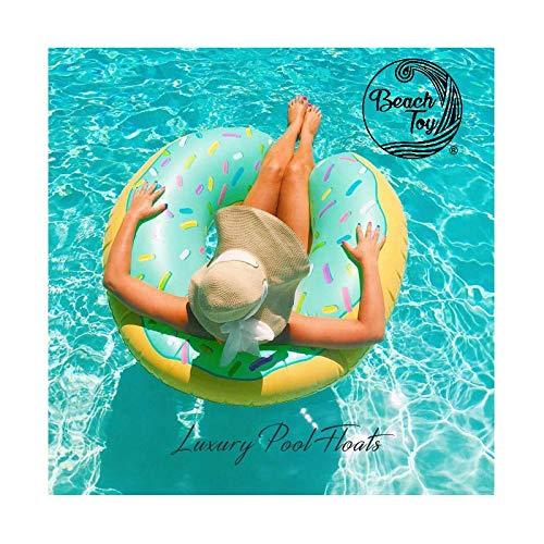 beachtoy Salvagente Gonfiabile beignet Donut Blu Mare/Piscina 110cm Taglia XXL–Set di 3